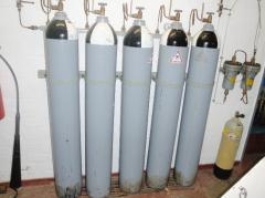 Equipment for the preparation of compressed air