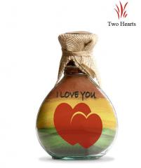 Two Hearts Sand Bottles